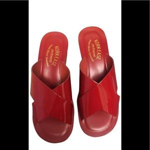 Kork-Ease Red Patent Leather Gracie Wedge Slide